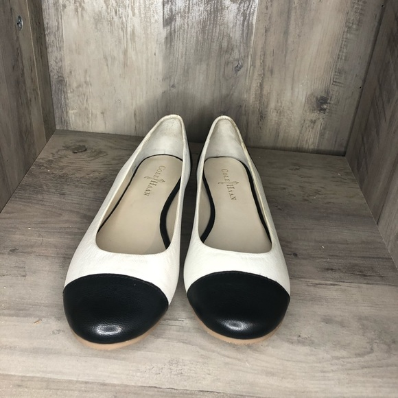 Spectator style flats two toned